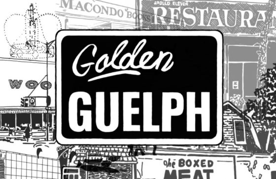 Black and white Golden Guelph collage