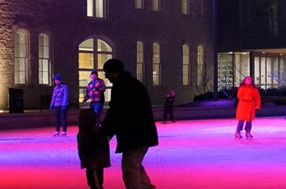 Skating at night in Market Square