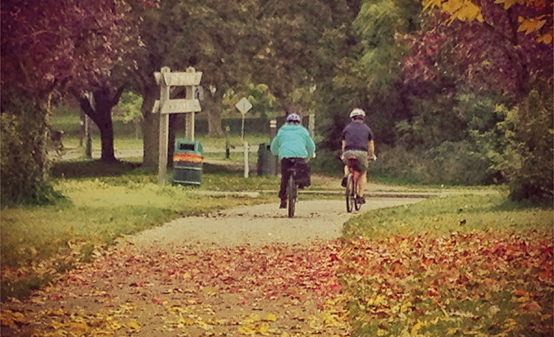 Cycling through autumn